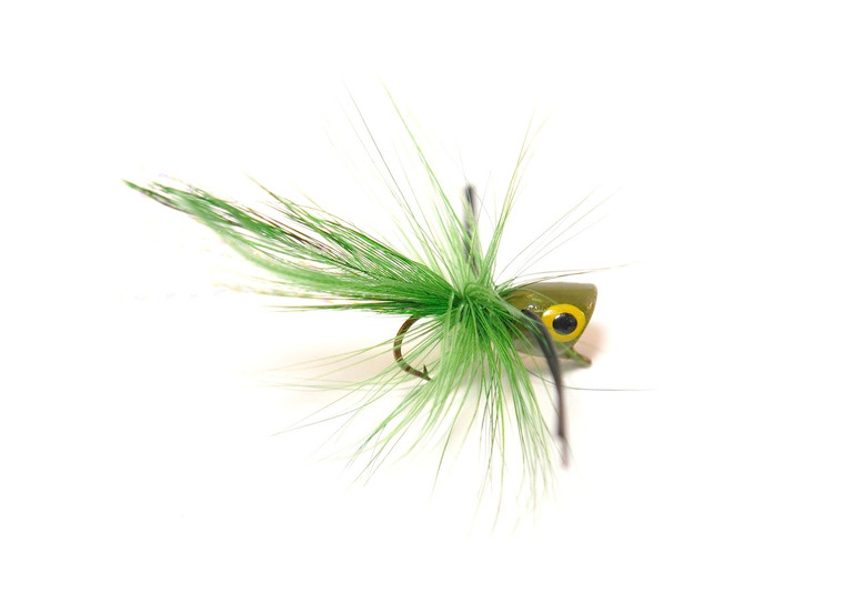 Panfish Popper - Olive body/Black legs