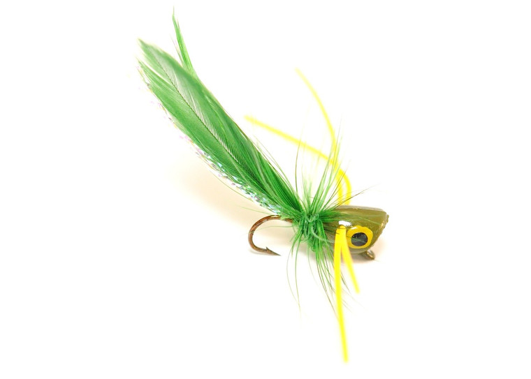 Panfish Popper - Olive body/Yellow legs