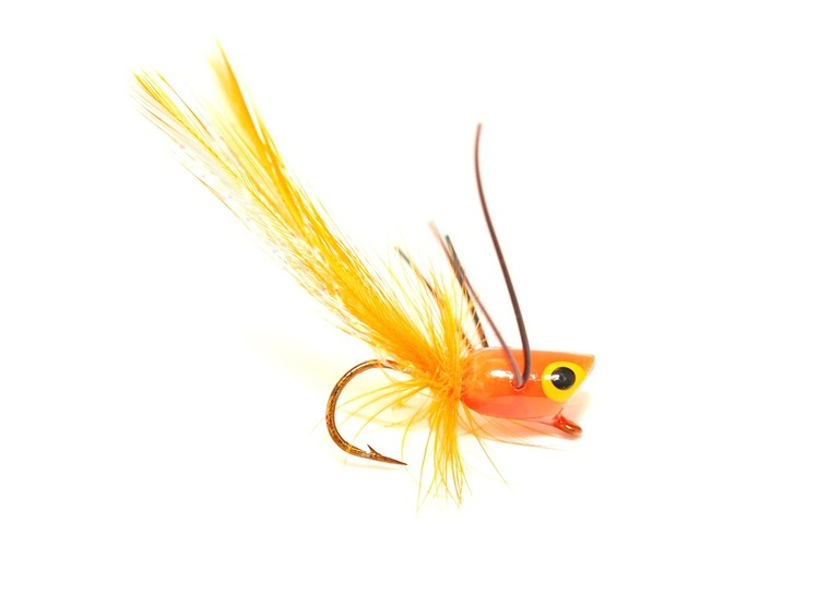 Panfish Popper - Orange body/Black legs