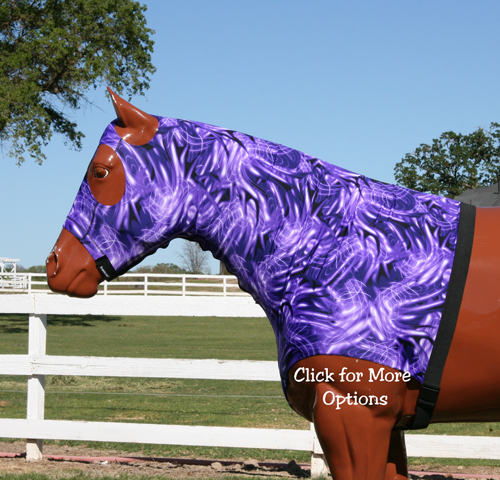 6 oz. Print stretch Lycra Horse hood with Zipper By Robinhoods