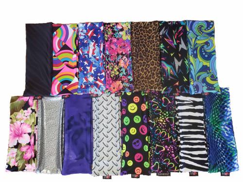 6 oz. Print Lycra Tail Bags, Lycra Print tail socks, tail bags for horses