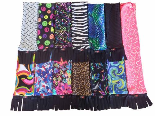 6 oz. Lycra Print Tail bag with Fringe; Lycra tail sock with Fringe