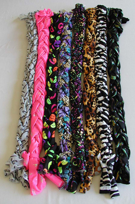 6 oz. Print Lycra Braid-In Tail Bag, 3-Way Print Braid-In Tail Wrap