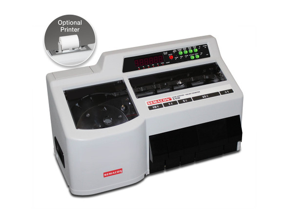 Semacon S-530 Coin Counter/Sorter/Bagger w/Printer
