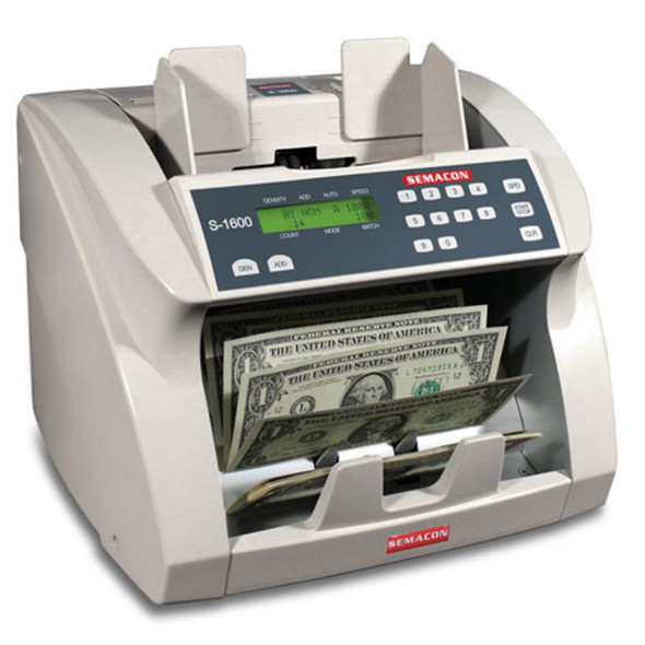Semacon S-1615V Premium Bank Grade Currency Value Counter (UV, CF)