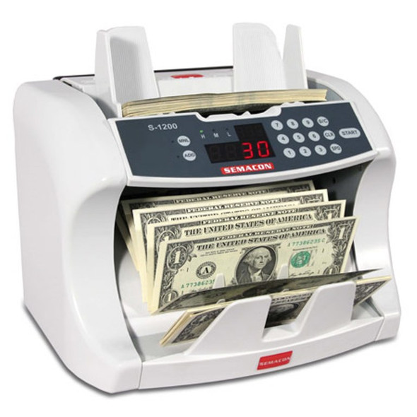 Semacon S-1215 Bank Grade Currency Counter (UV, CF)