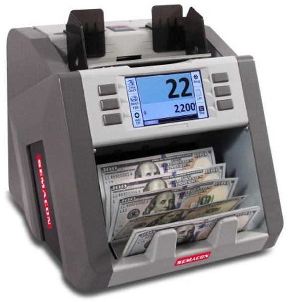 Semacon S-2200  1-Pocket Currency Discriminator / Mixed Money Counter