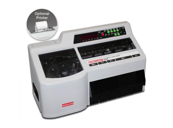 Semacon S-530 Coin Counter/Sorter/Bagger w/Printer