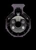 .308 Muzzle Brake, Stainless VPR, 5/8-24, Raw Titanium