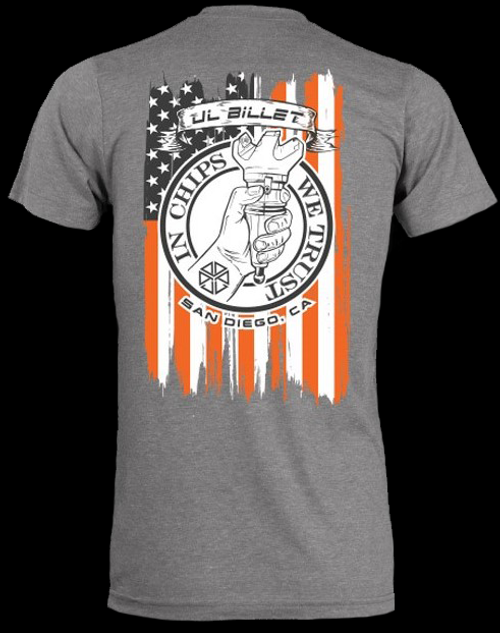 JL Billet In Chips We Trust Flag Shirt - Gray