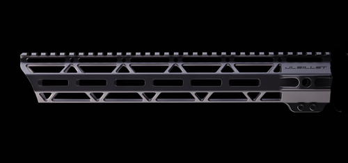 "JL Billet AR15 12.8"" Angle Cut M-Lok Handguard, Oversized to Accommodate Suppressor"
