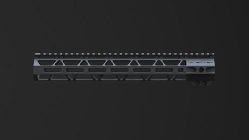 """JL Billet  AR15 13"""" Straight Cut M-Lok Handguard"""