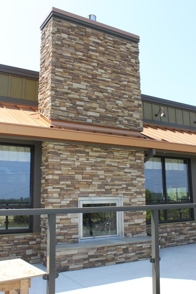 Cascade Quickfit on Outdoor commercial fireplace
