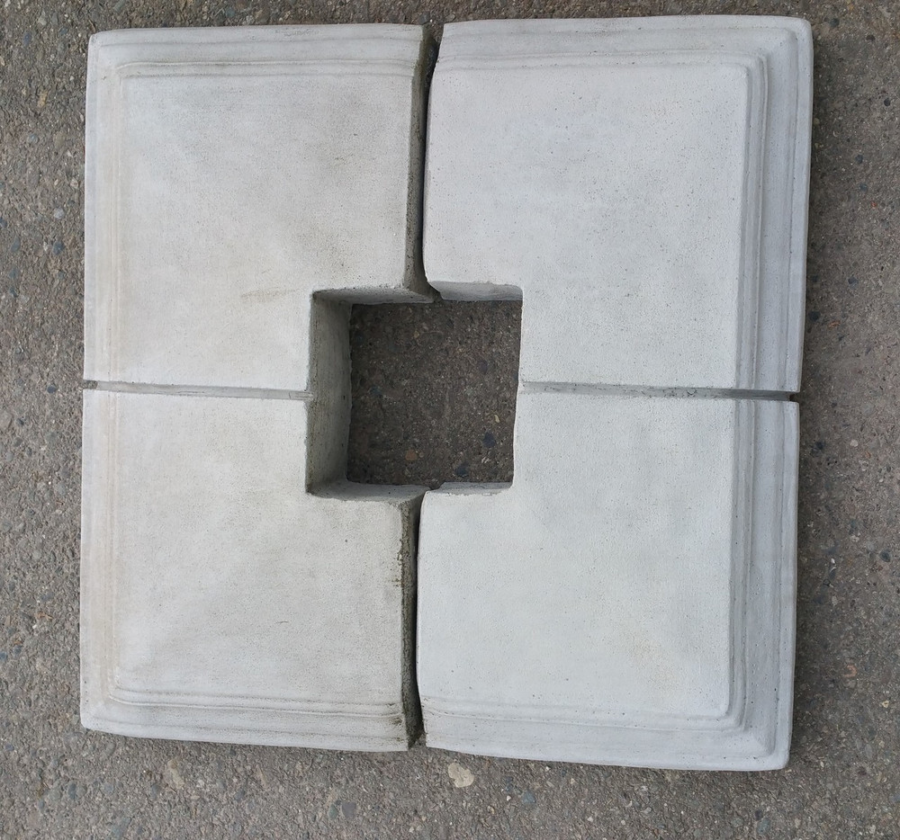 22x22 column cap comes in 2 pieces so you can easily go around a 4x4 or 6x6 post.