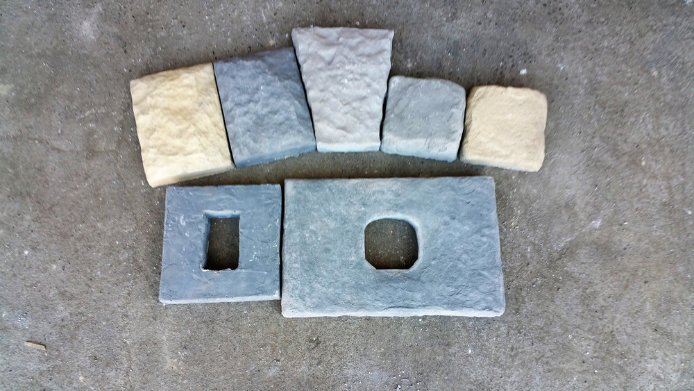 Other products to consider for your project. Key Stone, trim blocks, and light block