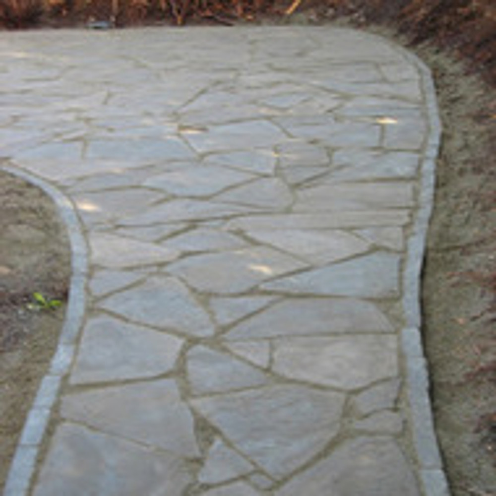Flagstone pavers installed as a walkway