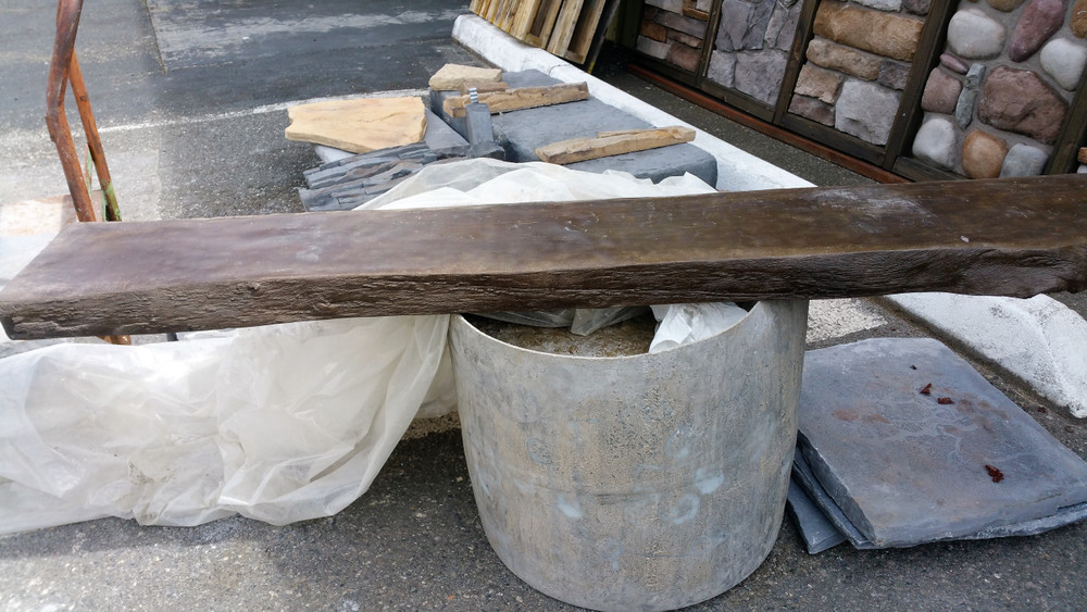 Concrete Live edge mantel.  Exterior or interior. Looks so real you won't believe it.