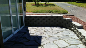 Each stone averages 2 1/2 square feet per stone. Easy to install because each stone is uniform thickness.