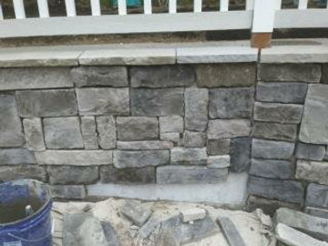 Limestone Dungeness in a funky pattern.