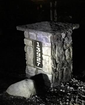 Address Pillar with Lighting.