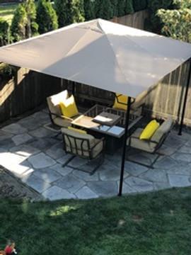 Flagstone pavers as a patio
