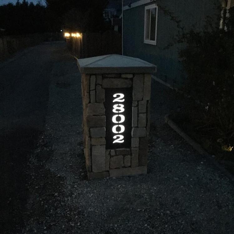 Address Pillar with Lighting