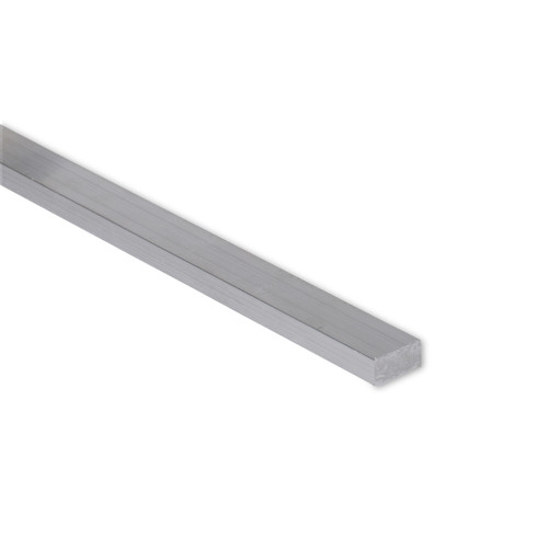 """Aluminum Flat Bar, 3/8"""" x 1/2"""", 6061 General-Purpose Plate, T6511 Mill Stock, 10 Lengths Available"""