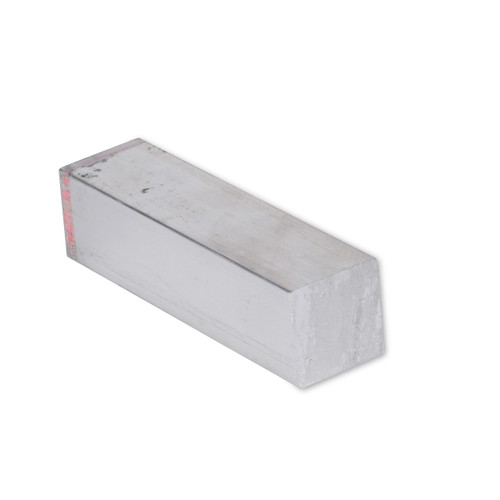 """1//2/"""" x 2-1//2/"""" Aluminum Flat Bar 0.5/"""" 6061 Plate T6511 Mill Stock 2/"""" Length"""