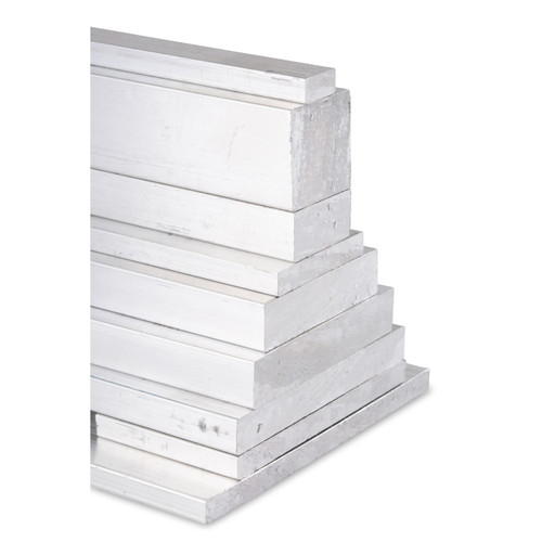"""Aluminum Flat Bar, 1"""" x 1"""" , 6061 General-Purpose Square, T6511 Mill Stock, 10 Lengths Available"""