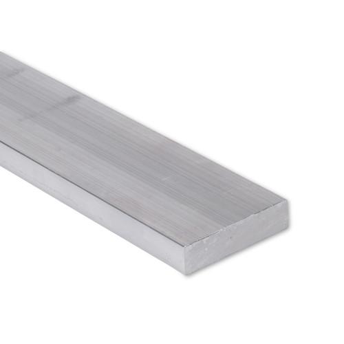 """Aluminum Flat Bar, 1"""" x 2"""" , 6061 General-Purpose Plate, T6511 Mill Stock (1.0X2.0FLT6061T6511)"""