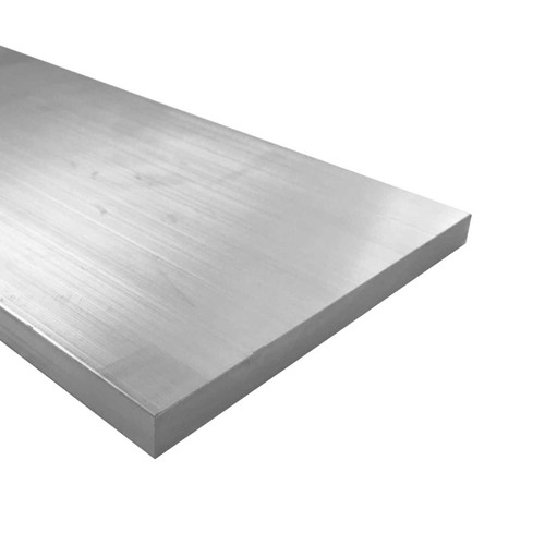 """Aluminum Flat Bar, 1/2"""" x 8"""", 6061 General-Purpose Plate, T6511 Mill Stock, 10 Lengths Available"""