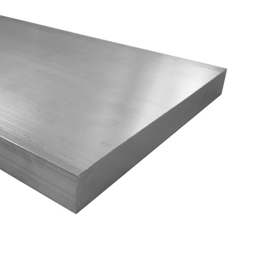 """Aluminum Flat Bar, 3/4"""" x 8"""", 6061 General-Purpose Plate, T6511 Mill Stock, 10 Lengths Available"""