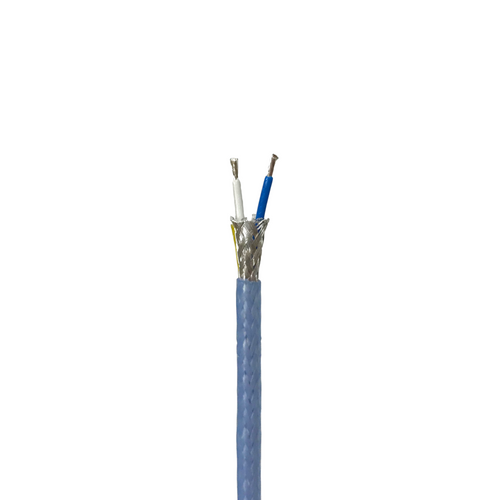M17/176-00002 Twinax Cable (Shielded Twisted Pair) with Blue PFA Jacket, 8 Lengths Available