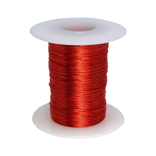Litz Wire, 18 AWG Unserved Single Build, 5/20/38 Stranding, Ideal for ~100 kHz Applications - 6 Spool Sizes