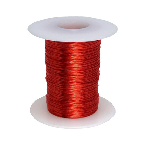 Litz Wire, 24 AWG Unserved Single Build, 25/38 Stranding, Ideal for ~100 kHz Applications - 6 Spool Sizes