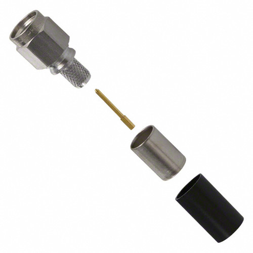 SMA Male Coaxial Connector Components, Threaded Straight Plug for RG-55, RG-142, RG-223, RG-400 Cables