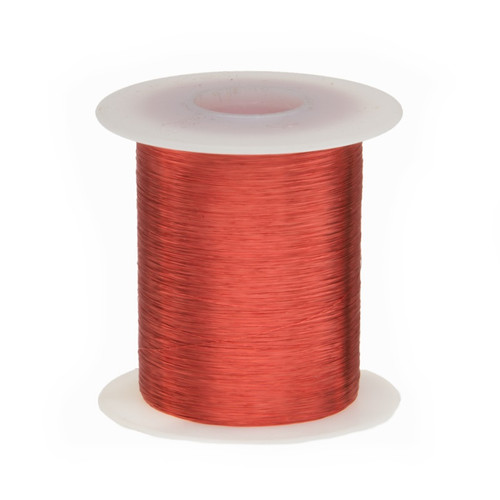 Magnet Wire, 34 AWG, Heavy Build, Enameled Copper - 6 Spool Sizes