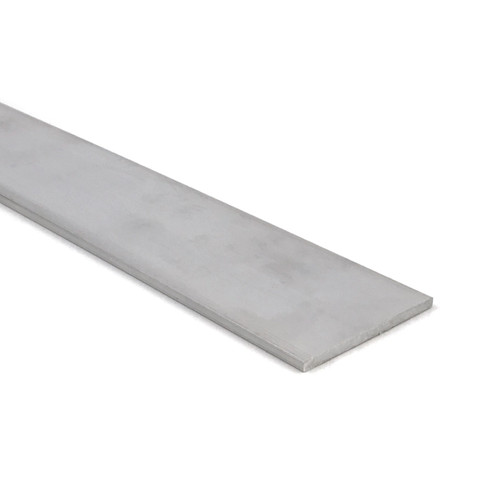 """Aluminum Flat Bar, 1/8"""" x 2-1/2"""", 6061 General-Purpose Plate, 10 Lengths Available, T6511 Mill Stock, Extruded, 0.125"""" Thick"""