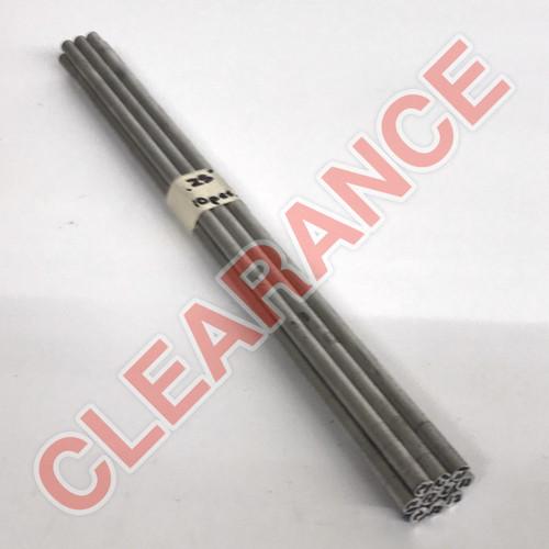 "Aluminum Round Rod, 1/4"" Diameter, 6061 General-Purpose, T6511 Mill Stock, 12"" Length, x10 Piece Lot"