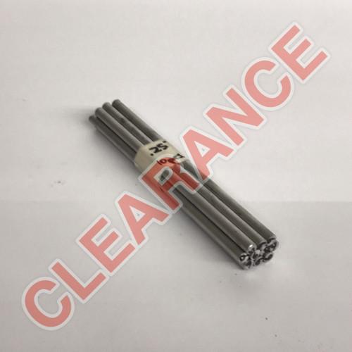 "Aluminum Round Rod, 1/4"" Diameter, 6061 General-Purpose, T6511 Mill Stock, 6"" Length, x10 Piece Lot"