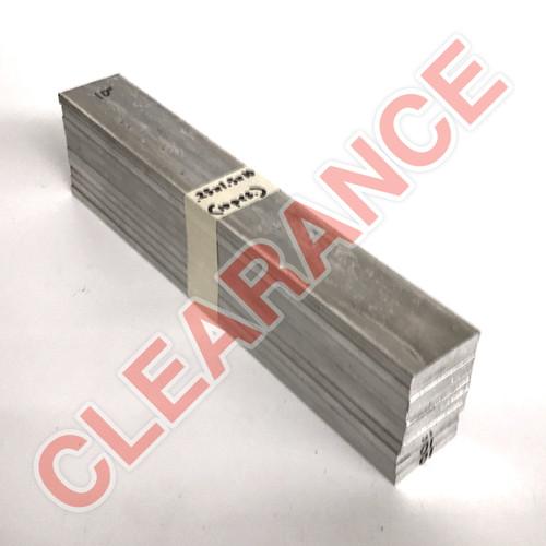 "Aluminum Flat Bar, 1/4"" x 1-1/2"", 6061 General-Purpose, T6511 Mill Stock, 10"" Length, x10 Piece Lot"