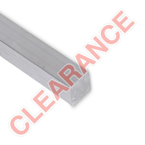 "Aluminum Flat Bar, 3/4"" x 1"", 6061 General-Purpose, T6511 Mill Stock, 10"" Length, x10 Piece Lot"