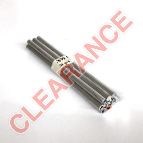"Aluminum Round Rod, 3/8"" Diameter, 6061 General-Purpose, T6511 Mill Stock, 8"" Length, x10 Piece Lot"