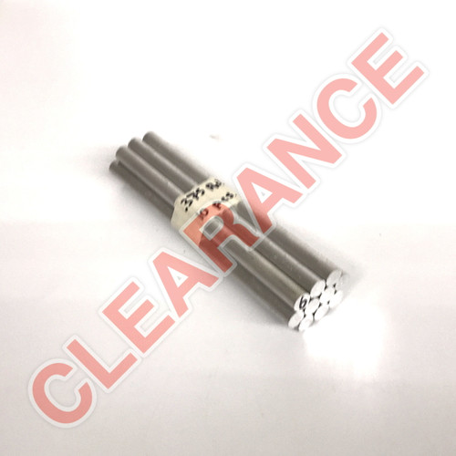 "Aluminum Round Rod, 3/8"" Diameter, 6061 General-Purpose, T6511 Mill Stock, 6"" Length, x10 Piece Lot"
