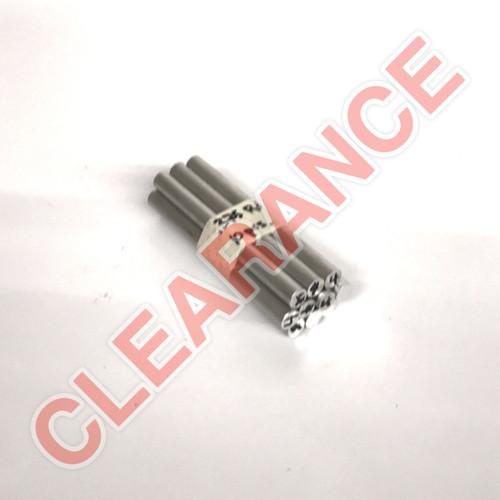 "Aluminum Round Rod, 3/8"" Diameter, 6061 General-Purpose, T6511 Mill Stock, 4"" Length, x10 Piece Lot"