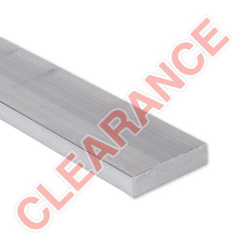 "Aluminum Flat Bar, 1/2"" x 2"", 6061 General-Purpose, T6511 Mill Stock, 10"" Length, x5 Piece Lot"