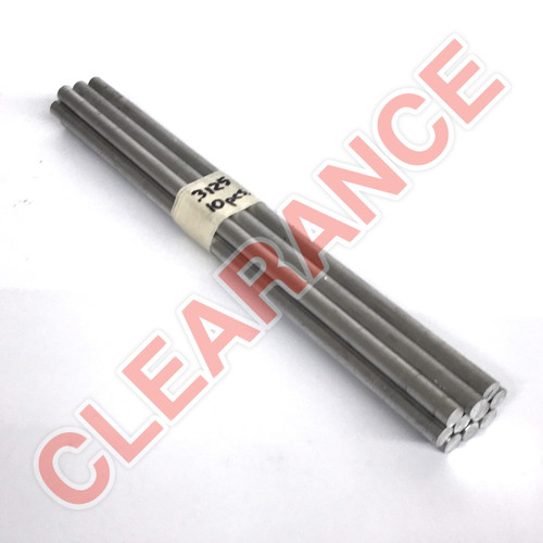 "Aluminum Round Rod, 5/16"" Diameter, 6061 General-Purpose, T6511 Mill Stock, 10"" Length, x10 Piece Lot"