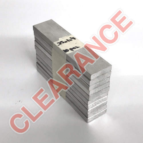 "Aluminum Flat Bar, 1/4"" x 1"", 6061 General-Purpose, T6511 Mill Stock, 4"" Length, x10 Piece Lot"