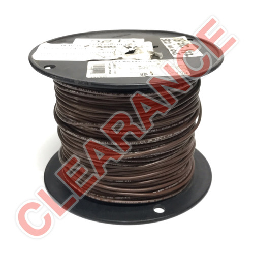 18 AWG Stranded Hook-Up Wire, UL1015, Brown PVC Insulation, 600V, 500 ft Spool
