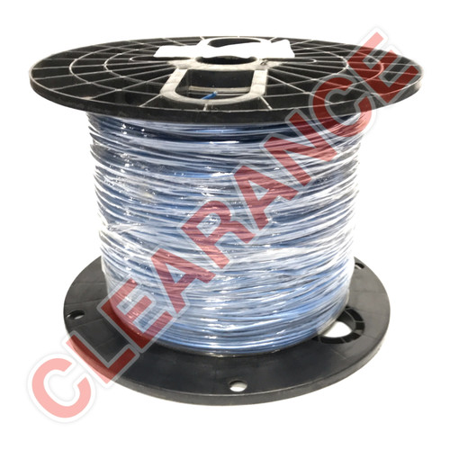 22 AWG Stranded Hook-Up Wire, UL1015, Blue PVC Insulation, 600V, 2430 ft Spool